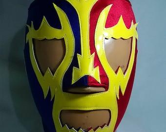 Luchador Olmeca Style Mask day of the dead mask Mexican Lucha Libre Superhero Cosplay Video Game Masquerade Halloween mardi gras