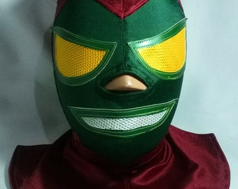 Destroyer Wrestling Luchador Mask Mystic Comics marvel superhero Cosplay Halloween day of the dead mask Mexican Lucha Libre Mardi Gras