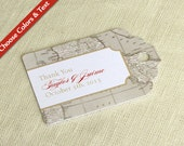 Italy Wedding Favor Tag -  Tuscany Florence Vintage Map  - Destination Travel - Bridal Baby Shower Gift Tag - Custom Colors and Wording