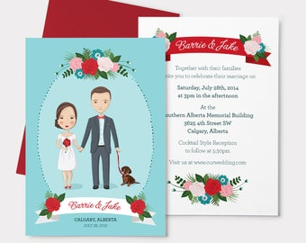 Custom Portrait  - Wedding Invitation Suite Add On