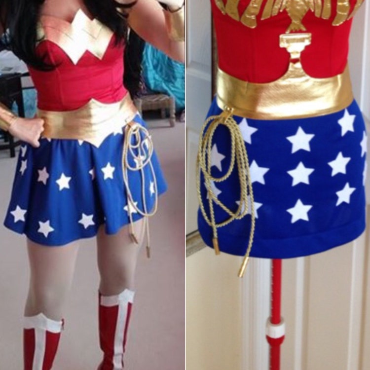 New Wonder Woman Costume with skirt custom made by delphina123