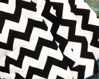 Chevron Knit Fabric destash, black and white chevron fabric
