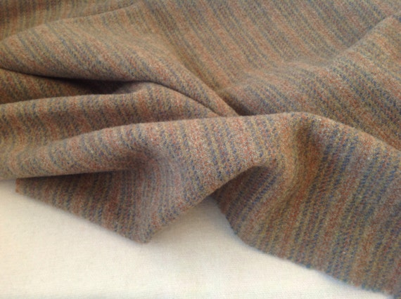 Wool Fabric for Rug Hooking and Applique, Fat Quarter Yard, Russian Olive Stripe, J957