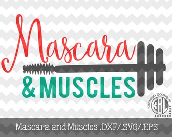 Mascara and Muscles Files .DXF/.SVG/.EPS Files for use with your Silhouette Studio Software