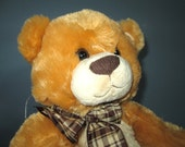 Large Musical Bears for Sale, 14 inch  - Plush Stuffed Animal With Music Box Inside - Your Choice of Song - Golden Brown and Chestnut