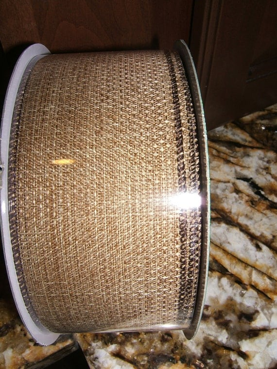 150 feet 50 yards wired ribbon burlap 2 5 inches by revivedstuff. Black Bedroom Furniture Sets. Home Design Ideas