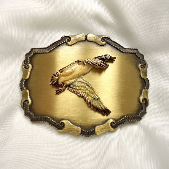 Vintage Raintree Western-Style Brass Belt Buckle