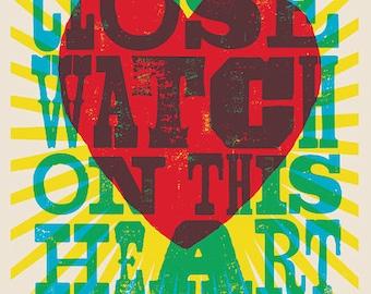 Johnny Cash - I Walk the Line - Digital Lyric Poster 11 x 17