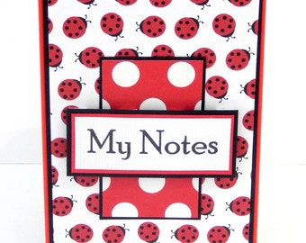 Ladybugs: Mini Spiral Memo Pad- 3 x 5 inches