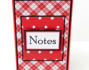 Plaid: Mini Spiral Memo Pad- 3 x 5 inches