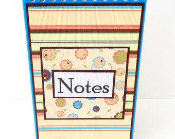 Stripes: Mini Spiral Memo Pad- 3 x 5 inches