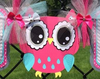 Owl baby shower banner, its a girl banner, girl owl banner, owl decorations, owl party decor, owl nursery decor, table banner, girl banner