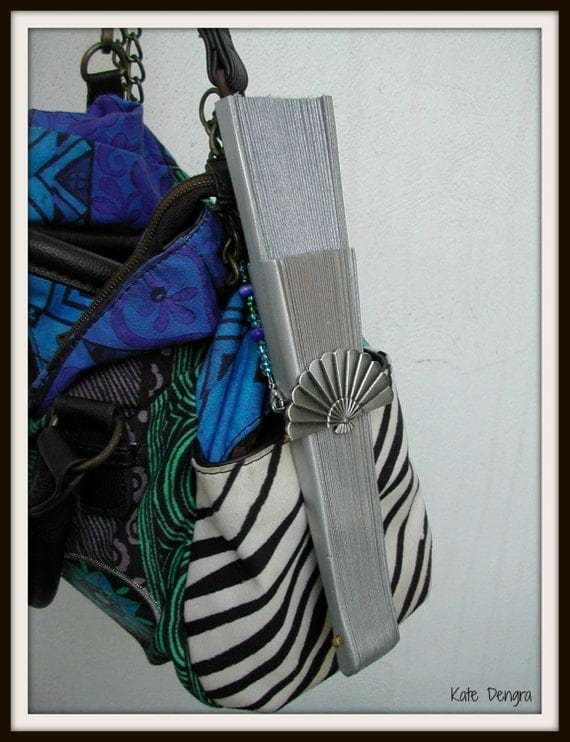 Handy Hand Bag Hand Fan Holder CHOOSE OPTIONS Strap and Holder Colored Beads Purse Chain Handle