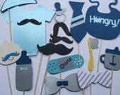 LITTLE  MAN   Bow Tie   and mustached themed photo booth props