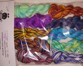 Mini skeins for sock blankies and bee keepers quilt 20 yard minimum