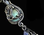 Sterling Silver Labradorite Pendant - Necklace Pendant - Bridal Gemstone Necklaces - Pendant Jewelry - Bohemian Style - Victorian Gothic