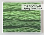 SPRING GRASS 0180 : Gentle Art 6-strand embroidery floss Simply Shaker Sampler Threads GAST hand over dyed overdyed thread cross stitch