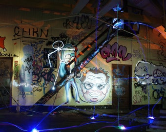 Curiosity - Light Graffiti Canvas Print - Ltd Edition of 25 -  Long Exposure Light Art Photography. Beautiful Vibrant Lighting Colour