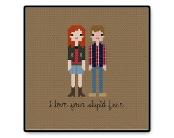 Amy and Rory In Love - Doctor Who - Cross Stitch PDF Pattern