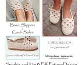 2in1-Pattern for Venezia-Slippers included Tailored CORD-Sole Tutorial  - Instant Download