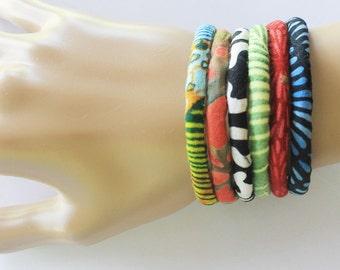 Tribal bracelet, Fabric bracelet, Tribal jewelry, Wrap bracelet, Cuff bracelet, Textile bracelet, Textile jewelry