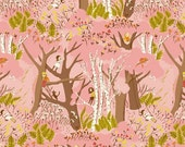 Windham Fabrics - Climbing Trees in Pink- Tiger Lily by Heather Ross - By The Yard (LOW STOCK)
