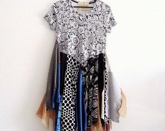SALE  30% Off  Funky Woodland Maxi Dress Small, Medium,Large / Ethical Fashion