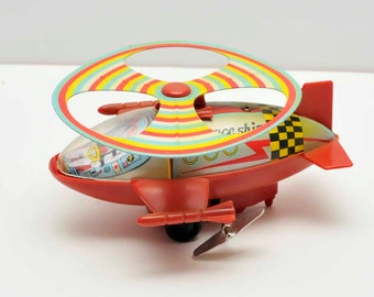 1950's Wind Up Space Ship Toy