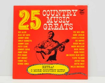 25 Country Music Greats  -- Record Album --