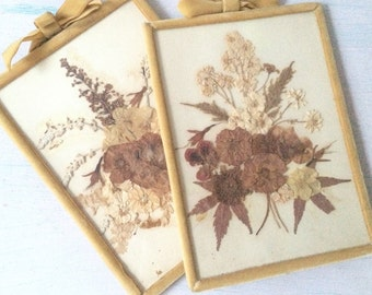 vintage Pressed Flower frames