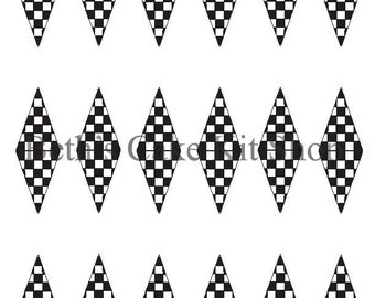 Printable Racing Checkered Flag Finish Line Download Cupcake or Cake Topper