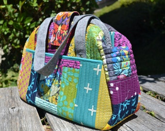 Bowling style handbag PDF sewing pattern - by Sewing patterns by Mrs H (Medium and small versions included)
