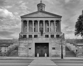 Nashville Tennessee State capital building in Black and White