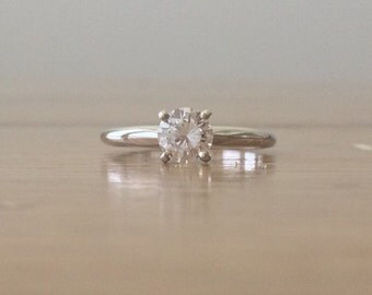 Engagement Rings Under 2000-Engagement Ring-Diamond Rings-Solitaire Diamond Ring-Artisan Jewelry-Jewelry Rings-BSK--Handcrafted Jewelry