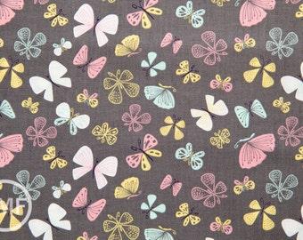 Kitten's Meow Butterflies in Iron, Heather Rosas, 100% Cotton, Camelot Fabrics, 6141403 3