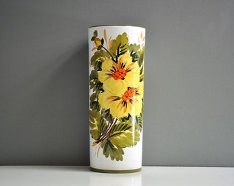 Italian Hand-Painted Floral Umbrella Stand