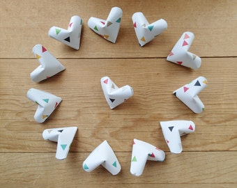 Confetti Collection of Large Hearts, set of 12.