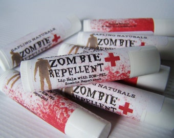 Zombie Repellent Lip Balm - chocolate caramel flavor