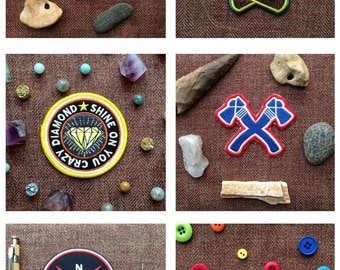 Pick 3 Patches, Scouting, Scout, Camp, Camping, National Parks, Retro, Pink Floyd, Tolkien, Native American