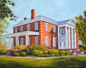 Fine Art Print- President's Home, Vintage Judson College, Marion Alabama