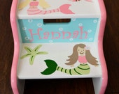 Mermaids Step Stool, Ocean Bathroom