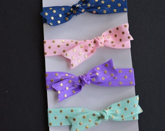 Hair Tie - Set of 4 Elastic Hair Ties - Bracelets - Baby Girl Accessories