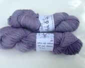 Clearance - Hand dyed Yarn, Simply Singles DK, Superwash Merino, semi-solid lavender