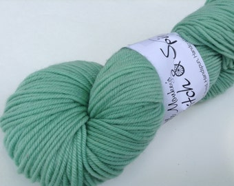 "Clearance - Hand dyed Yarn, ""Spring semisolid"", DK Superwash Merino"