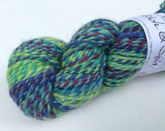 Handspun BFL, aran, self striping 4.2 oz, 142 yds