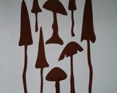 Tarra Pyksys Magical Fae Fungi Mushroom Stickers For Campervan, Caravan, Car Sheet One