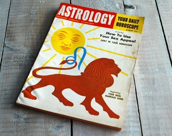 Astrology Magazine, August 1955 Issue, Leo, Virgo Birthday 62nd Birthday present