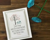 The Bend Print - Anne of Green Gables Quote - Inspirational - Perfect for birthdays, graduations, encouragement