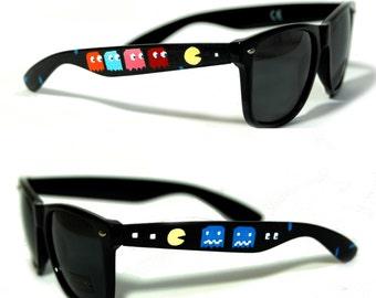 Sunglasses - Pac Man - Hand Painted Wayfarers
