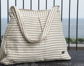 Grey Stripes laptop messenger bag, 13 inch Messenger Bag, WATERPROOF Macbook Bag, Laptop Bag, Crossbody 13 inch Macbook Bag, Yoga Lenovo Bag